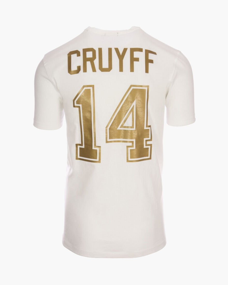 Cruyff Signature Tee 2-pack, White/Gold, hi-res