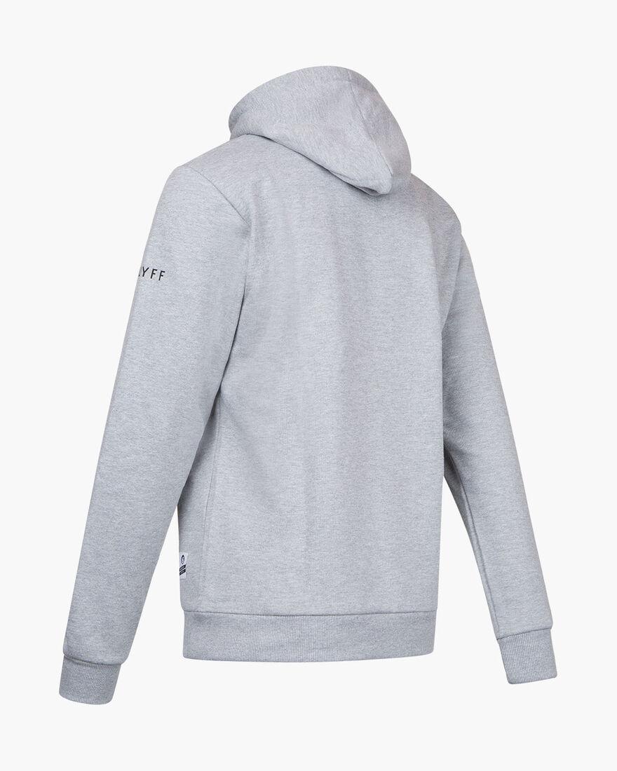 Cruyff Portrait Hoodie - Grey Melange - 50% Cotton, Grey, hi-res