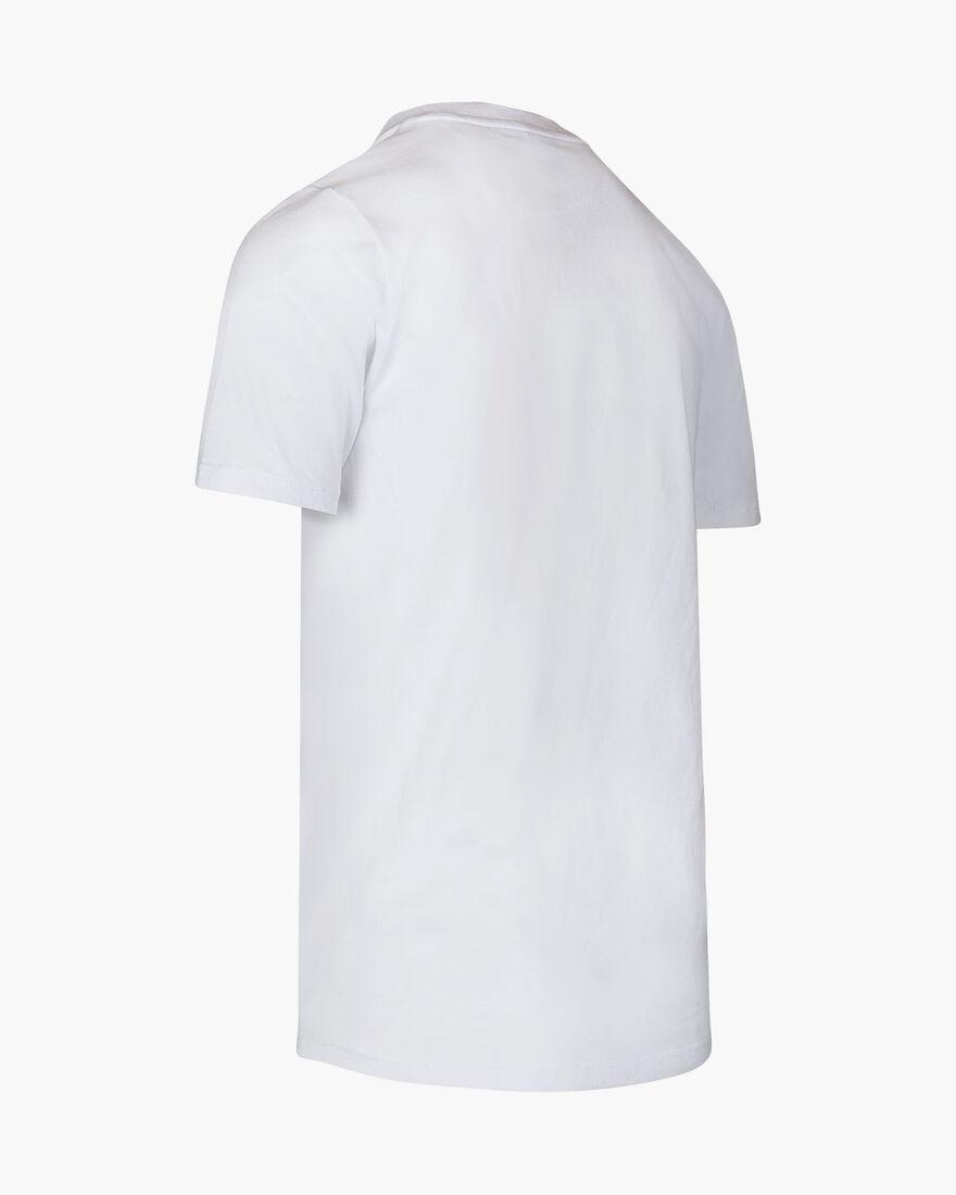 Ximo Cotton Tee - Black - 100% Cotton Jersey, White, hi-res