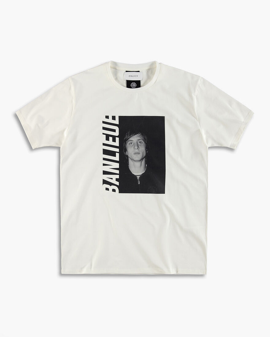 Cruyff x Banlieue Tee  SS - Black - 100% Cotton, White, hi-res