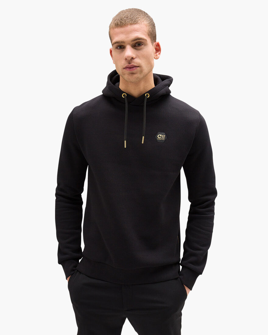 Pionero Hoodie - Black - 65% Cotton / 35% Polyeste, Black, hi-res