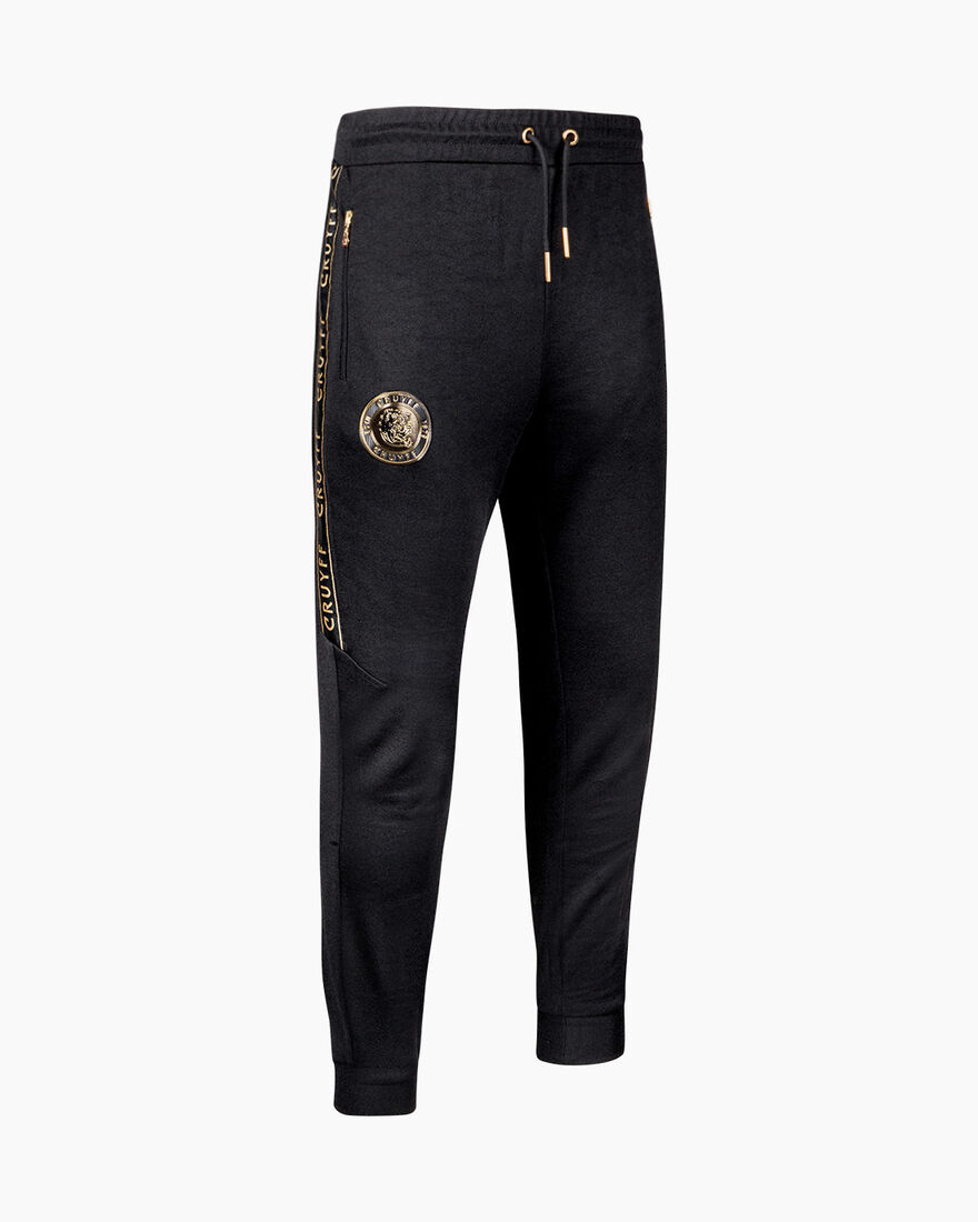 Valentini Track Pant - Navy/Gold - 65% Polyester /, Black, hi-res