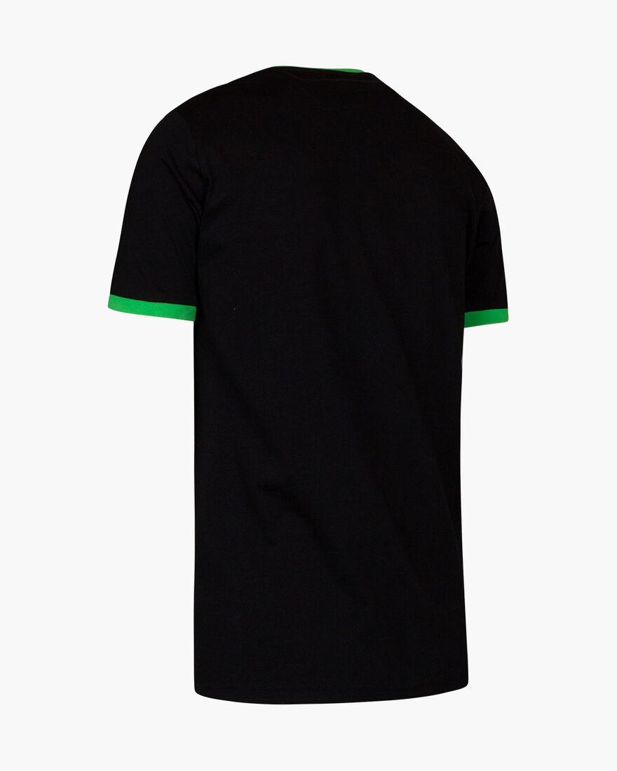 Devante SS T-Shirt - Black/Acid Green - 100% cotto, Black/Green, hi-res