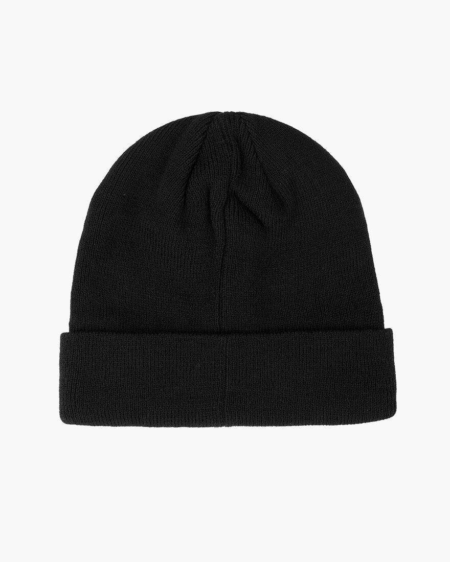 Label Beanie, Black, hi-res