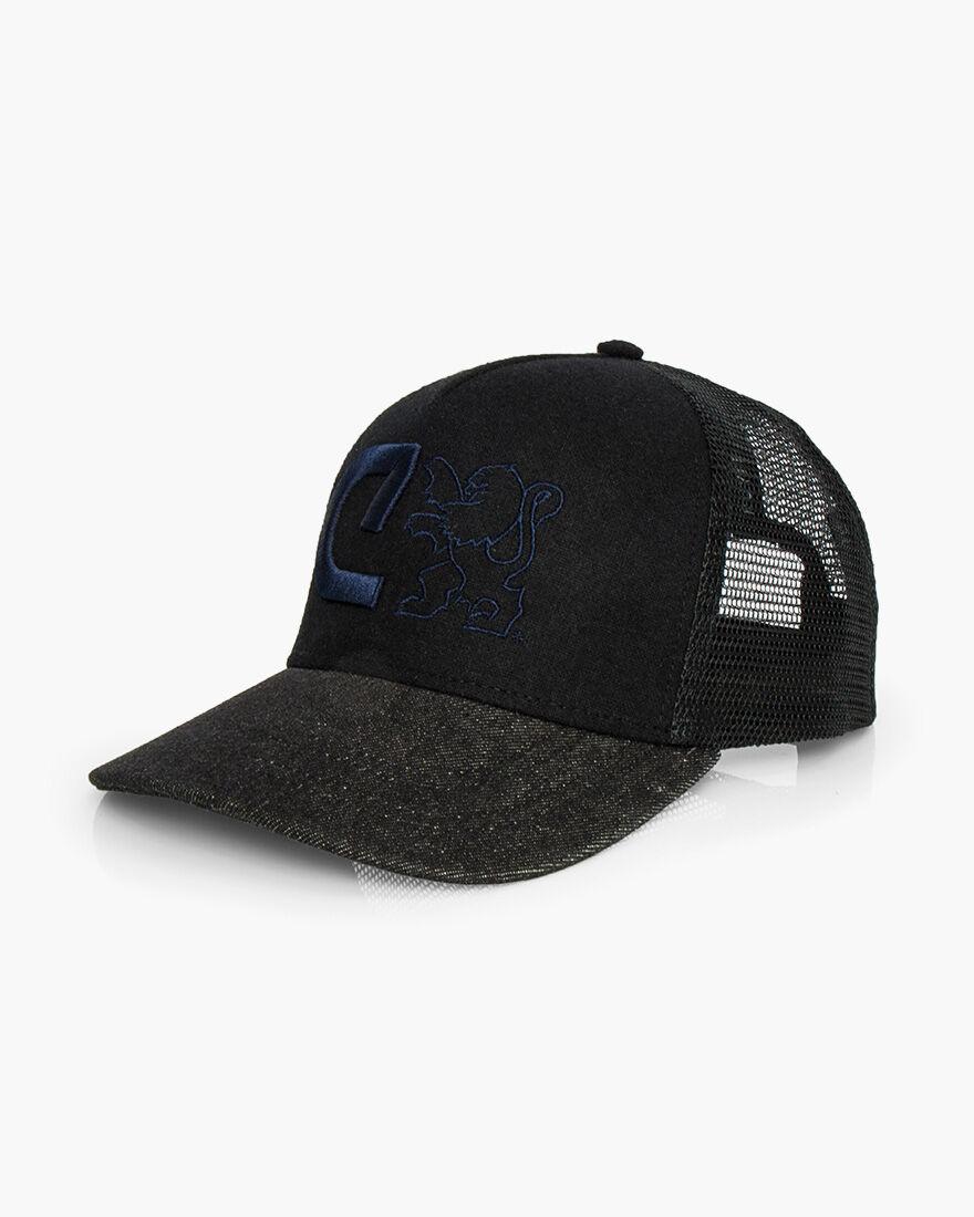 C Trucker Cap, Black, hi-res