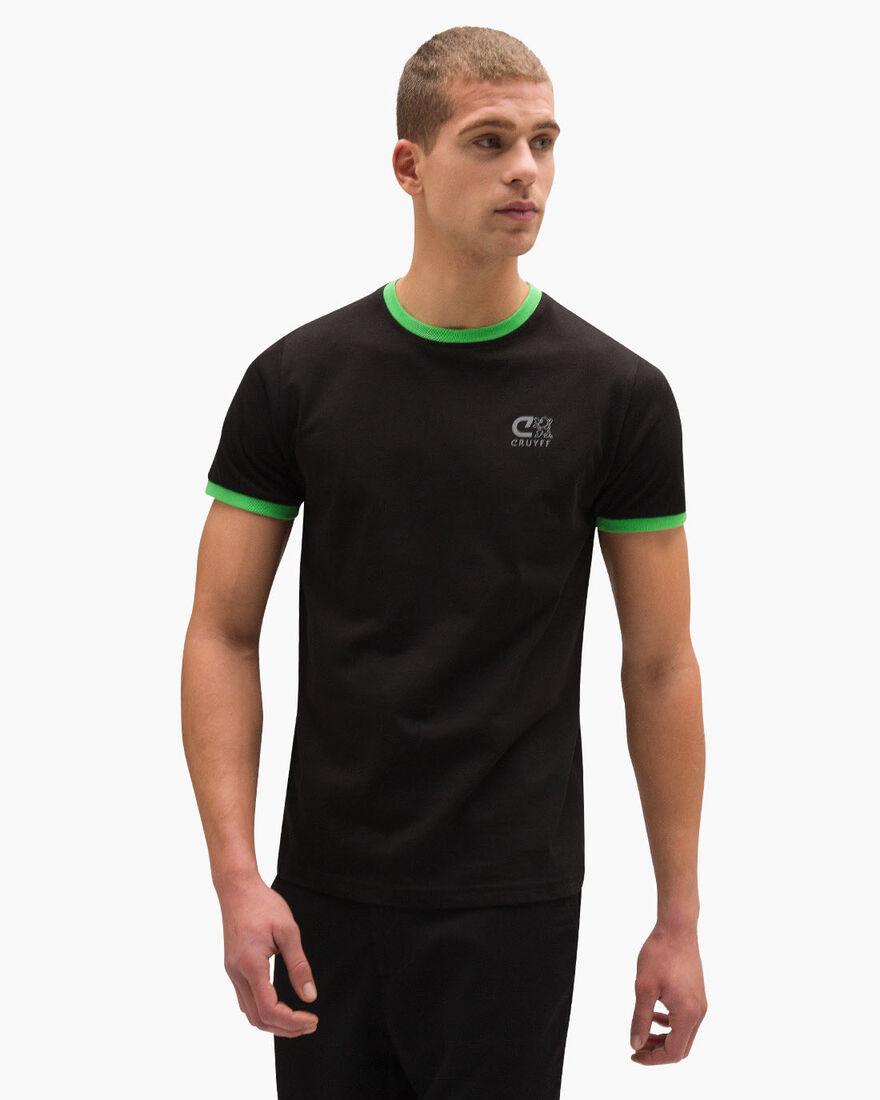 Devante SS T-Shirt - Navy/Royal - 100% cotton, Black/Green, hi-res