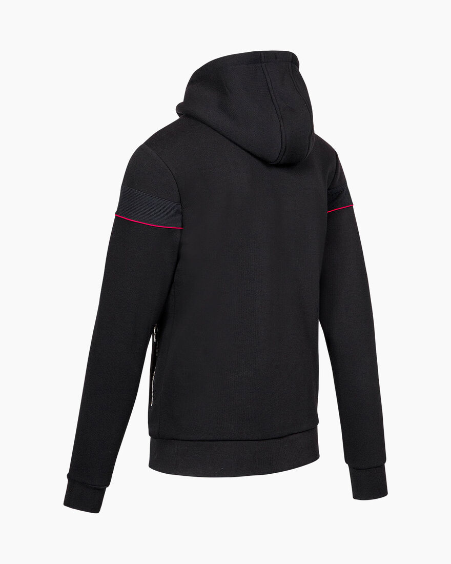 Ferran Zip Thru Hood - Black - 65% Cotton / 35% Po, Black, hi-res