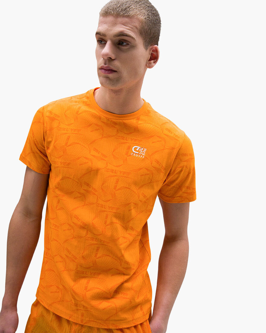Aleix SS Tee - Mint - 100% cotton, Orange, hi-res