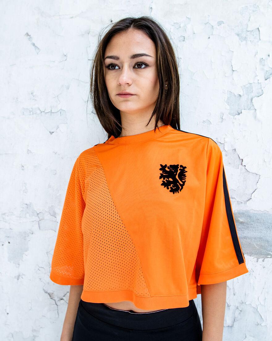 Cruyff x Blood In Blood Out Womens Euro 2020 Crop, Orange, hi-res