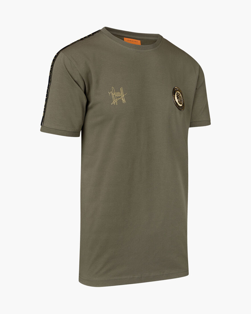 Valentini T-Shirt - Black - 100% Cotton, Army green, hi-res