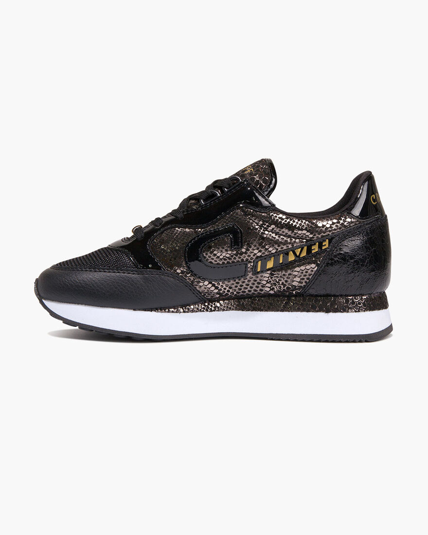 Parkrunner - Offwhite/Gold - Netmesh/Suede, Black/Gold, hi-res