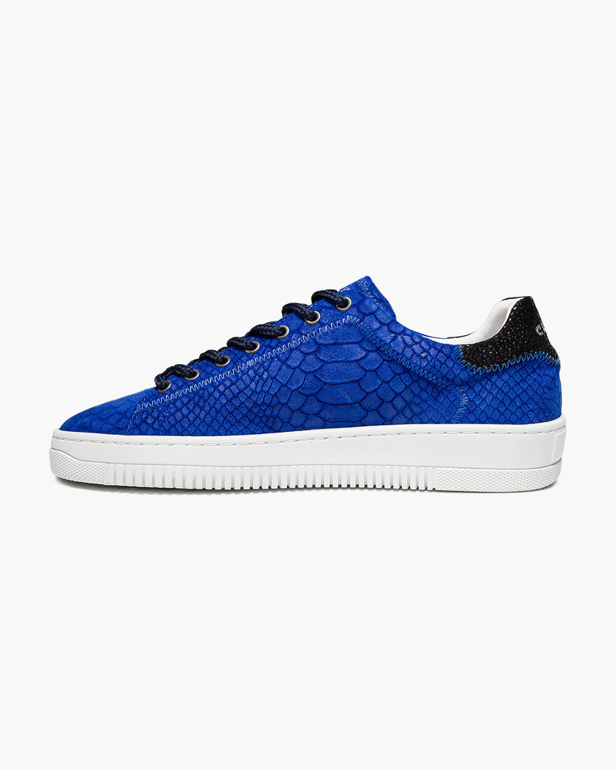 Joan - Yellow - Anaconda/Ray leather, Royal Blue, hi-res