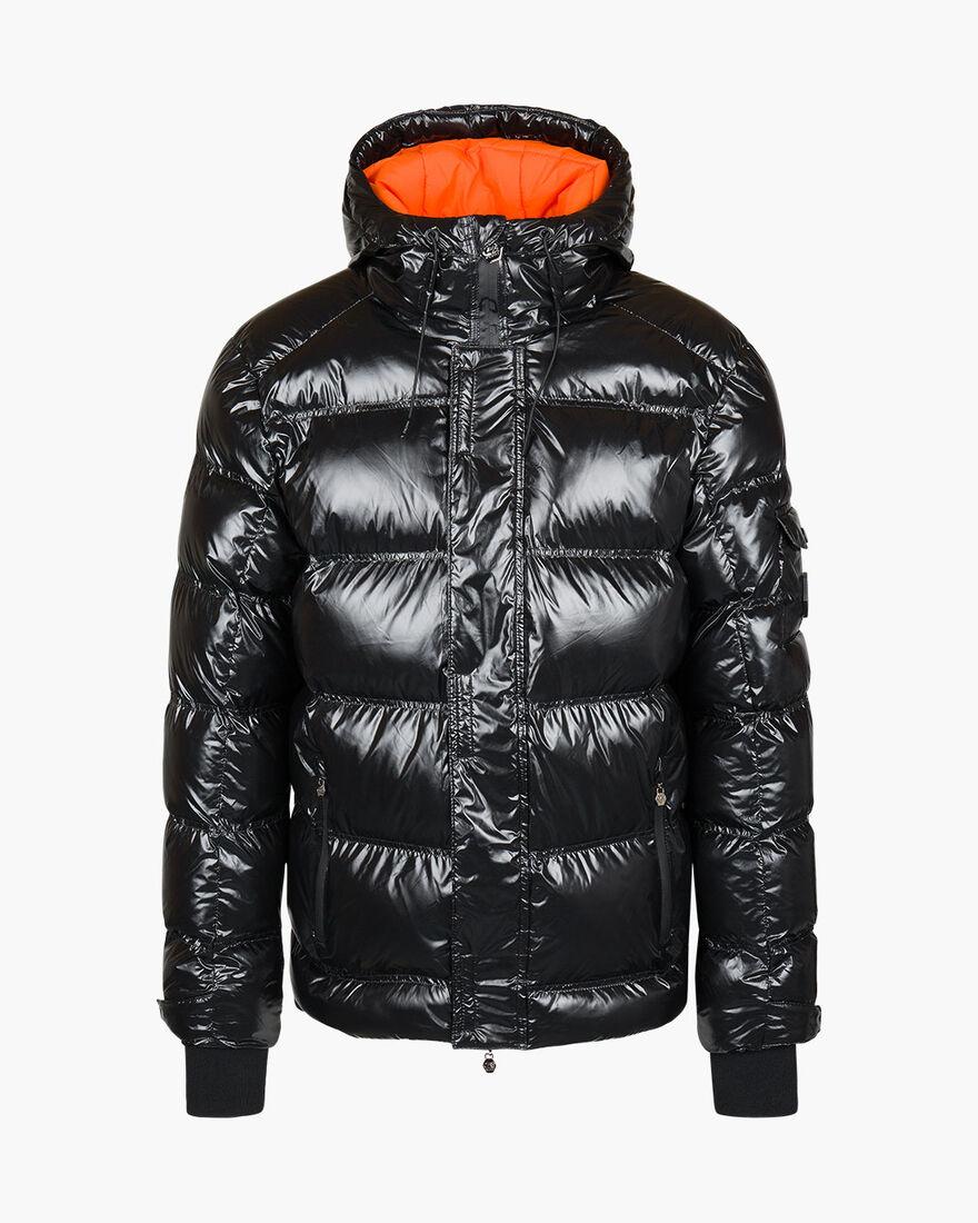 Trentini Puffer Jacket - Black - 100% Polyester, Black, hi-res