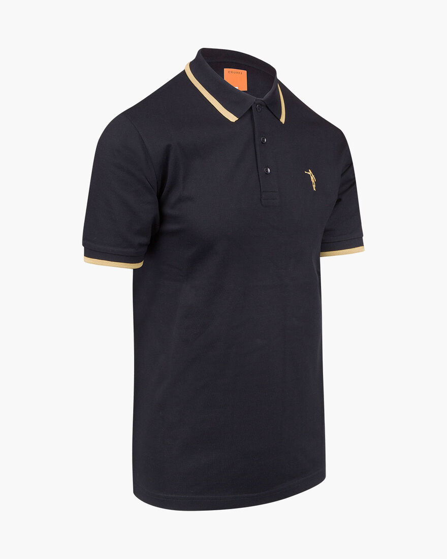 Maestro Mercerised Polo, Black, hi-res