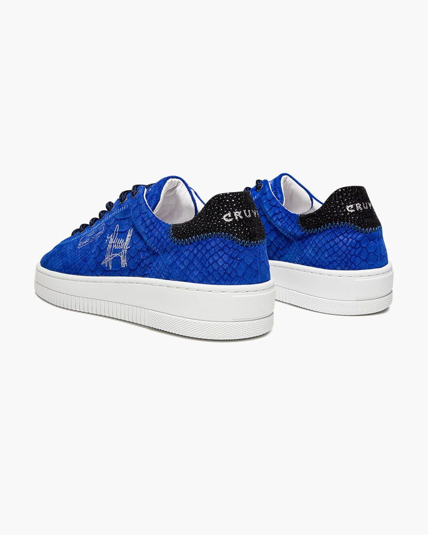 Joan - Black - Lasered Soft Nappa/Ray leather, Royal Blue, hi-res