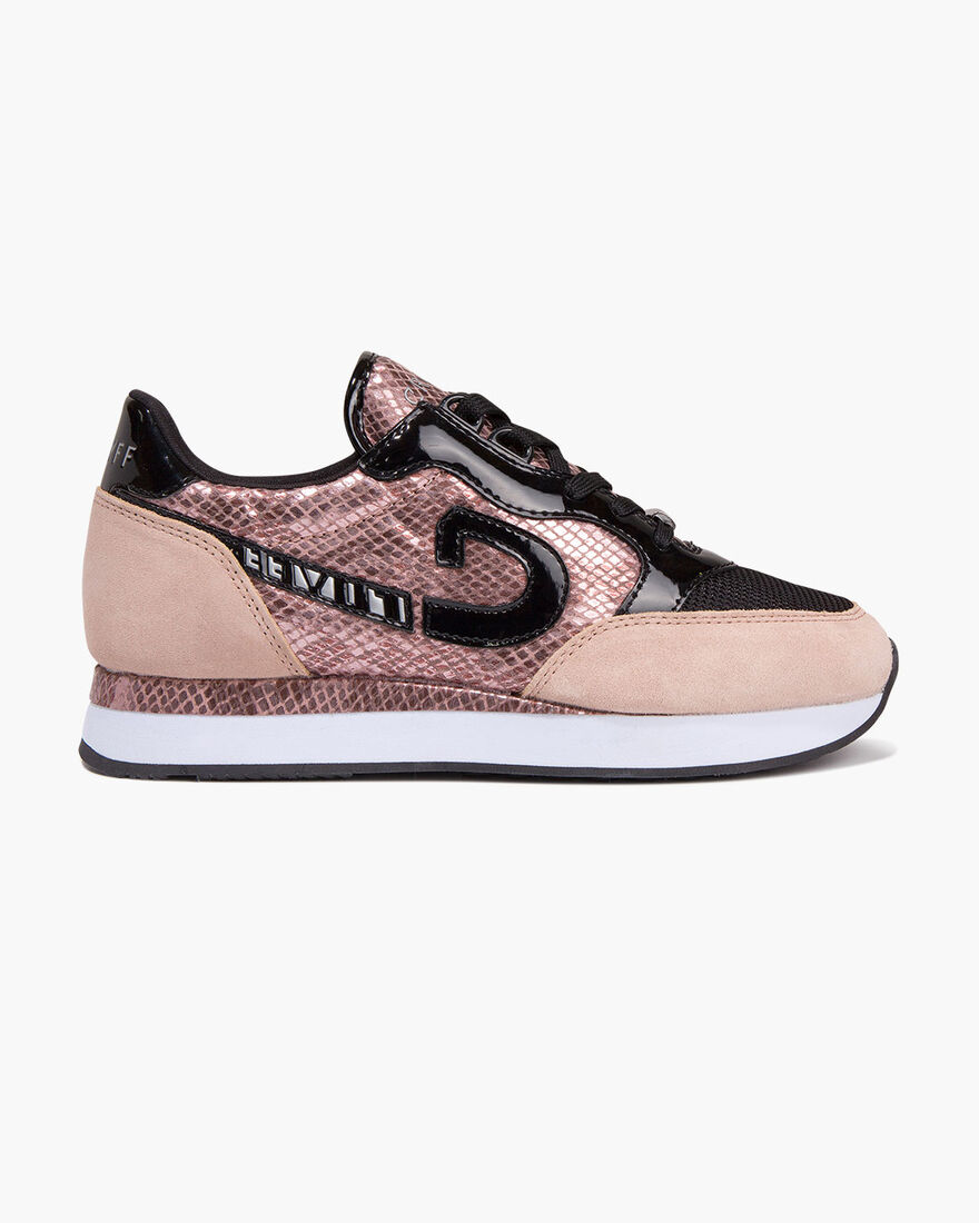 Parkrunner - Offwhite/Gold - Netmesh/Suede, Pink, hi-res