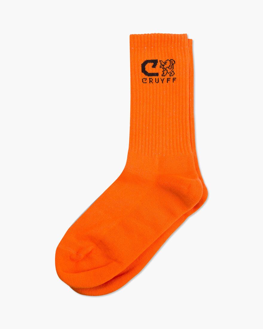 Sport lux Brand Socks, Orange, hi-res