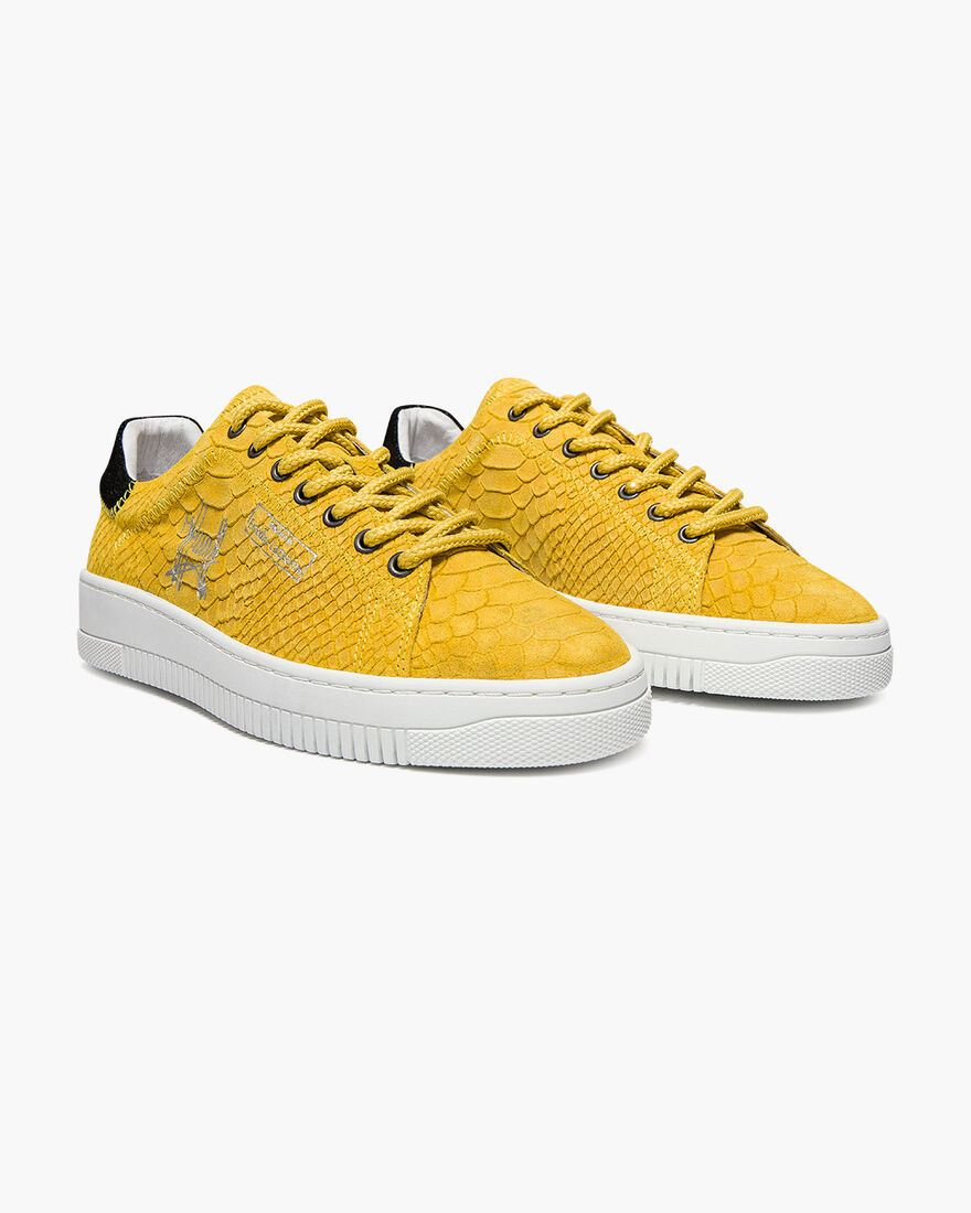 Joan - White - Lasered Soft Nappa/Soft Nubuck, Yellow, hi-res