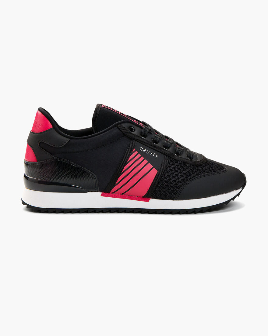 Diamond Trainer - Black/Lazer Red - Geometric Mesh, Black/Red, hi-res