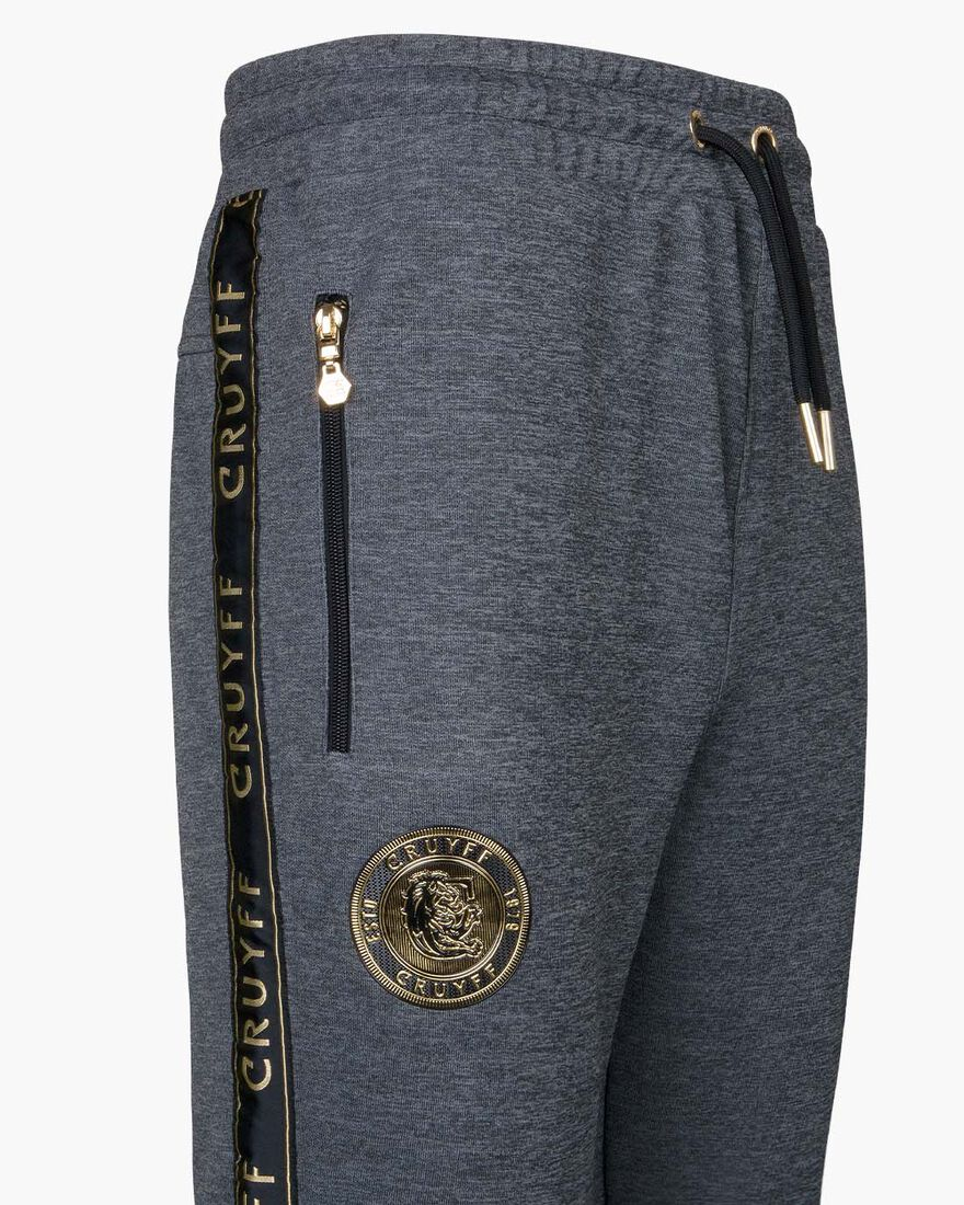 Valentini Track Pant - Black/Gold - 65% Polyester , Antracite, hi-res