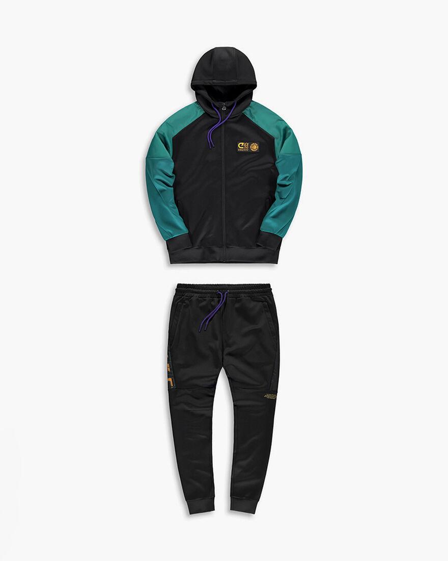Cruyff x Banlieue Scuba Suit  - Pink / Navy - 95% , Black/Blue, hi-res