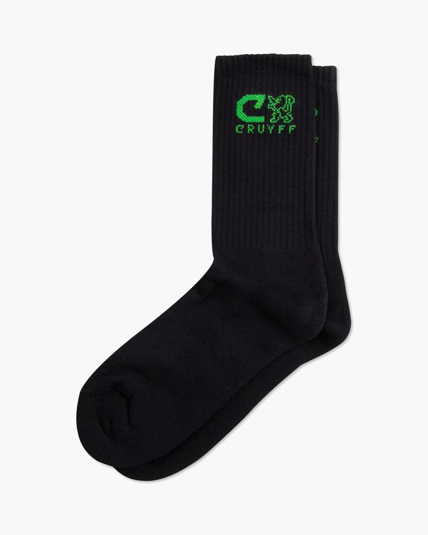 Sport lux Brand Socks, Black/Green, hi-res