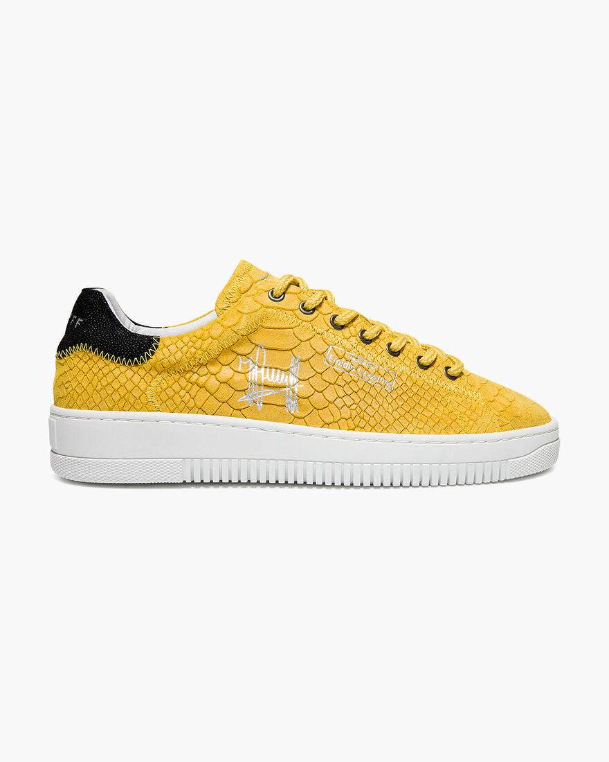 Joan - Yellow - Anaconda/Ray leather, Yellow, hi-res