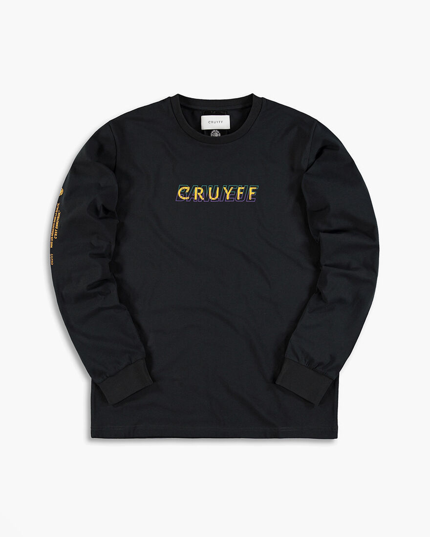 Cruyff x Banlieue Tee LS - Navy - 95% Cotton / 5% , Black, hi-res
