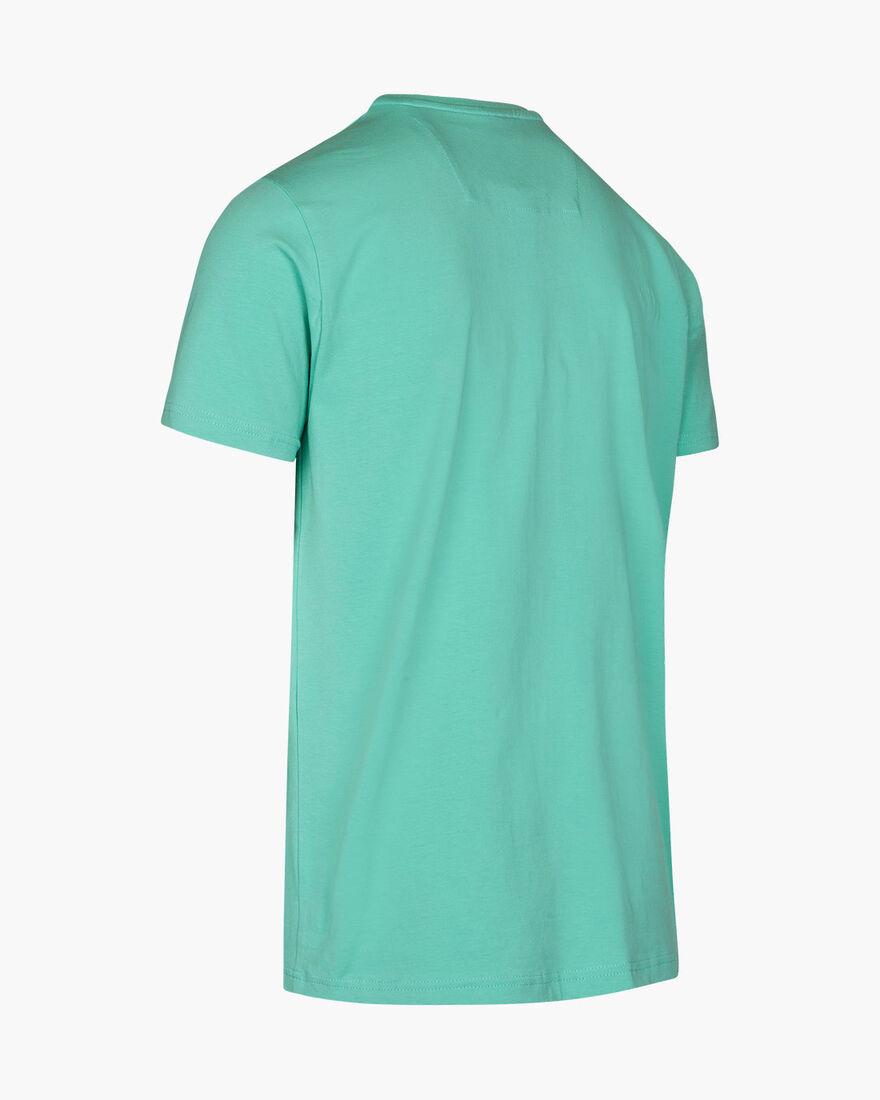 Jeroni SS Tee - Mint - 95% Cotton / 5% Elastane, Blue, hi-res