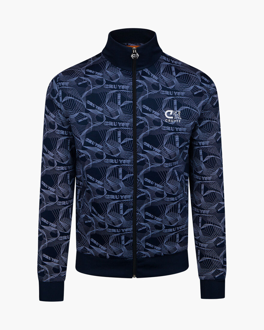 Aleix Track Top - Navy - 65% Polyester / 35% Cotto, Navy, hi-res