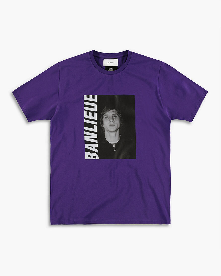 Cruyff x Banlieue Tee  SS - Black - 100% Cotton, Purple, hi-res
