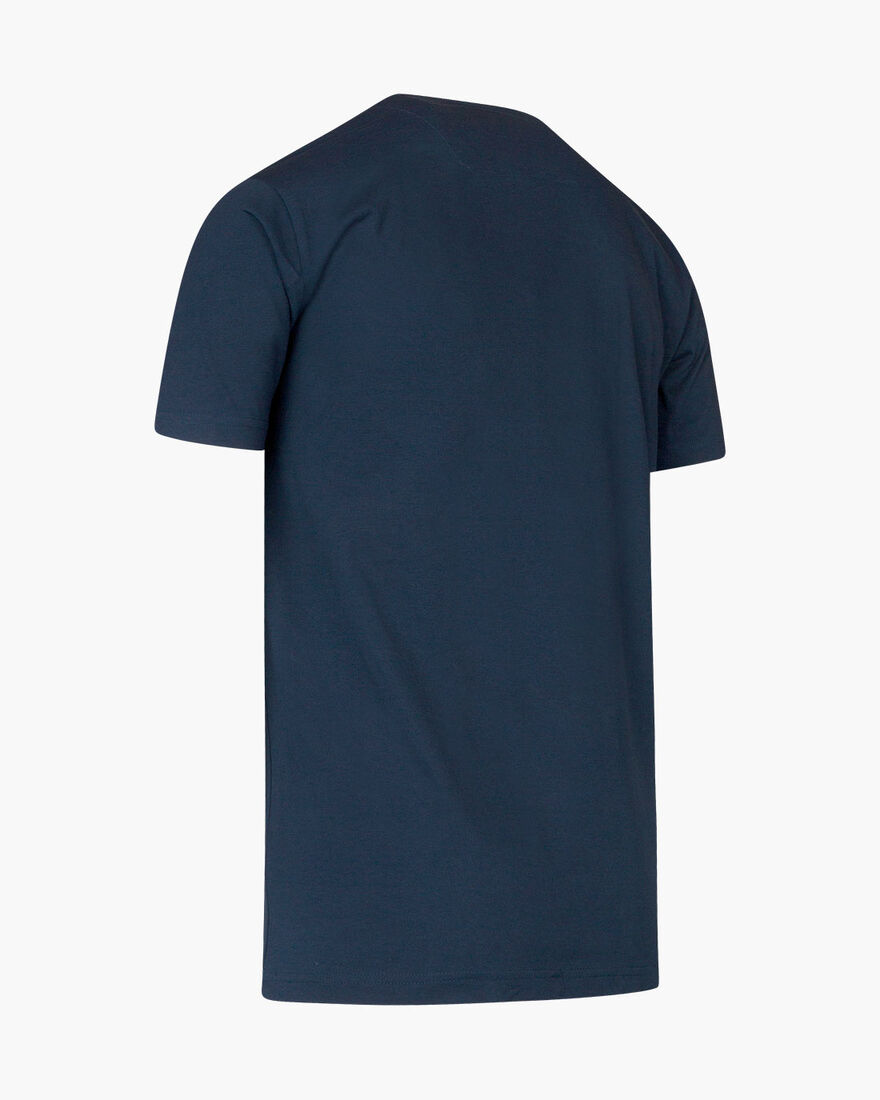 Paolo SS T-shirt - Navy/Gold - 95% polyester / 5% , Navy, hi-res