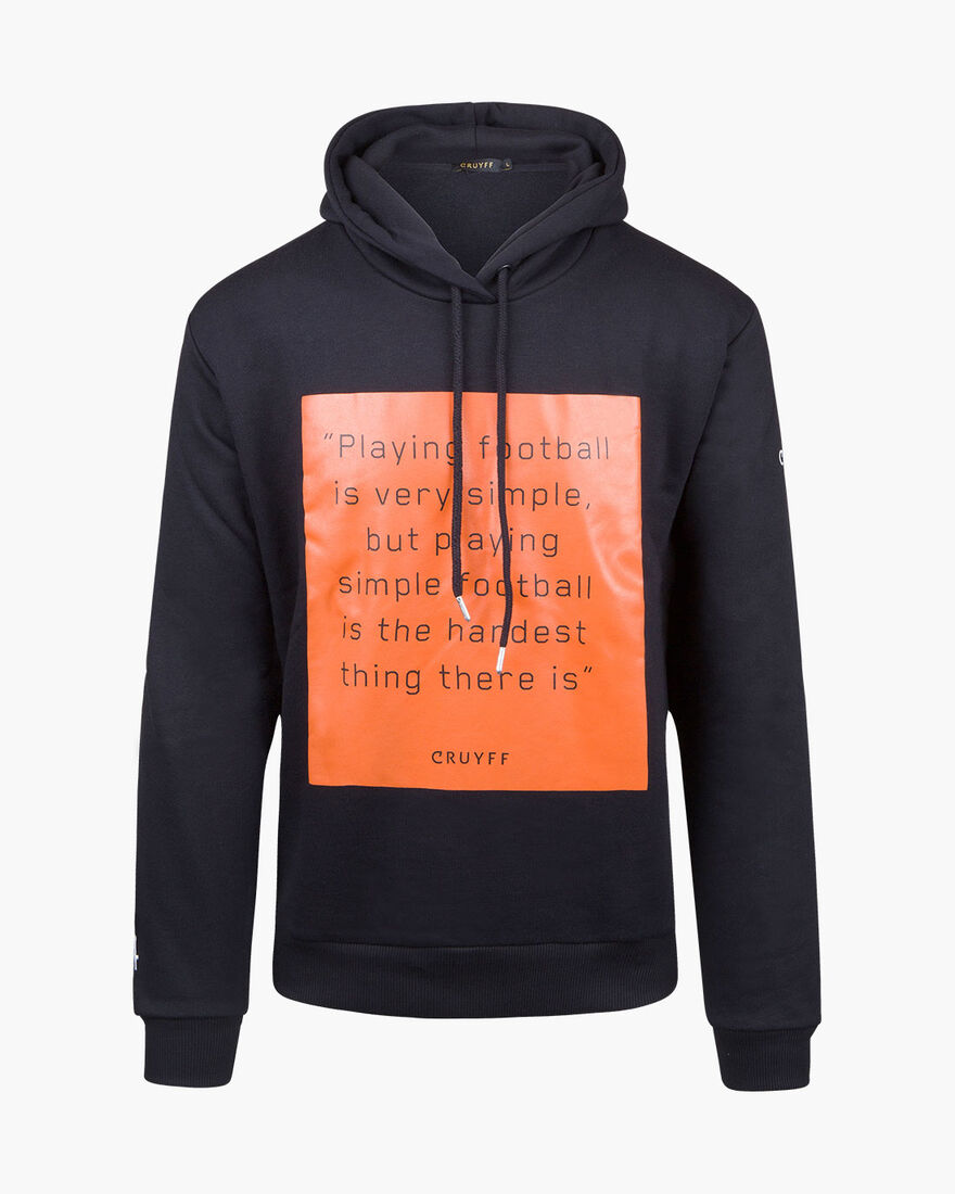 Playing Football Hoodie - Black - 50% Cotton/50% P, Black, hi-res