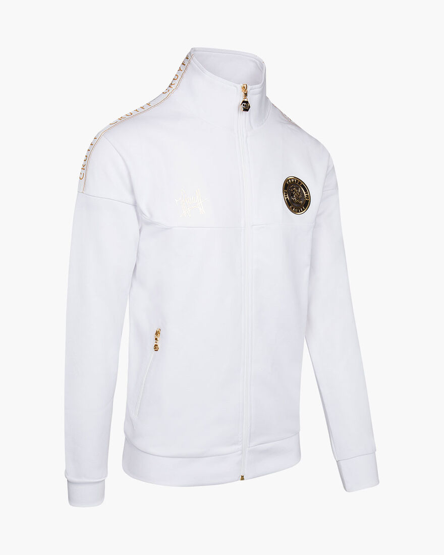 Valentini Track Top - Black - 65% Polyester / 35 %, White/Gold, hi-res